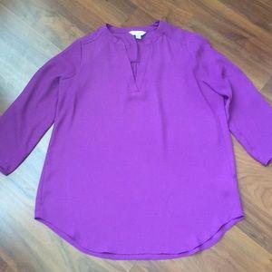 Decree Purple 3/4 sleeve blouse